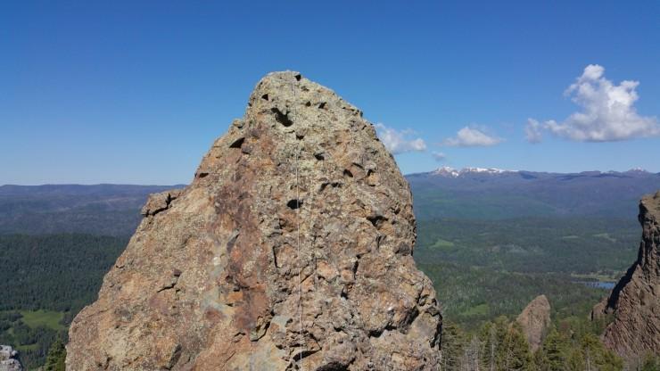 Ropes across summit